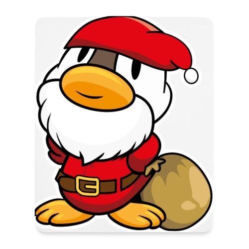 Lustige kleine Ente als Weihnachtsmann Tassen & Zubehör - Mousepad (Hochformat)