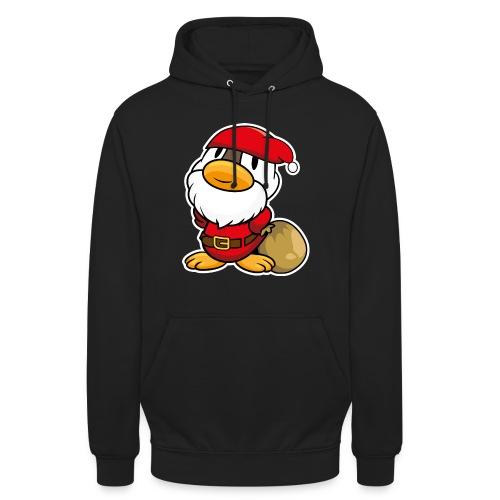 Lustige kleine Ente als Weihnachtsmann Tassen & Zubehör - Unisex Hoodie