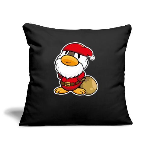 Lustige kleine Ente als Weihnachtsmann Tassen & Zubehör - Sofakissenbezug 44 x 44 cm