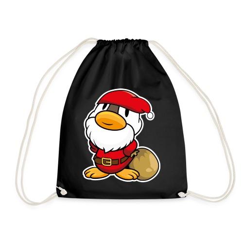 Lustige kleine Ente als Weihnachtsmann Tassen & Zubehör - Turnbeutel