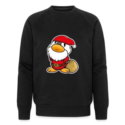 Lustige kleine Ente als Weihnachtsmann Tassen & Zubehör - Männer Bio-Sweatshirt von Stanley & Stella