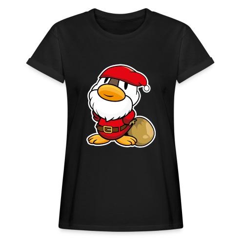 Lustige kleine Ente als Weihnachtsmann Tassen & Zubehör - Frauen Oversize T-Shirt