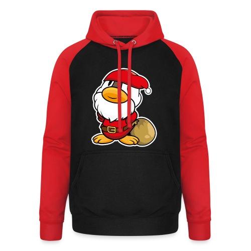Lustige kleine Ente als Weihnachtsmann Tassen & Zubehör - Unisex Baseball Hoodie