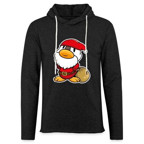 Lustige kleine Ente als Weihnachtsmann Tassen & Zubehör - Leichtes Kapuzensweatshirt Unisex