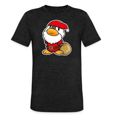 Lustige kleine Ente als Weihnachtsmann Tassen & Zubehör - Unisex Tri-Blend T-Shirt von Bella + Canvas