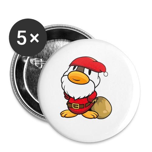 Lustige kleine Ente als Weihnachtsmann