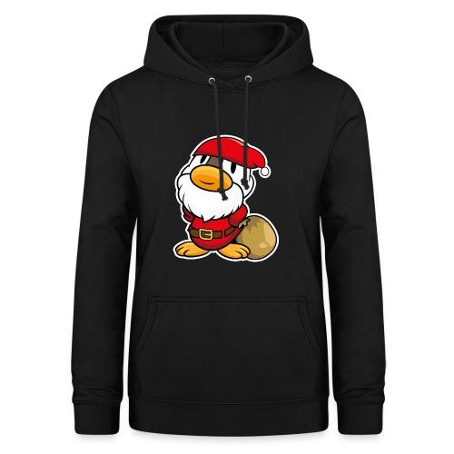 Lustige kleine Ente als Weihnachtsmann Tassen & Zubehör - Frauen Hoodie