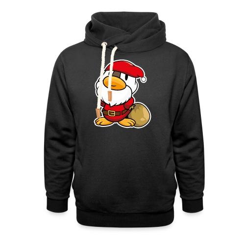 Lustige kleine Ente als Weihnachtsmann Tassen & Zubehör - Schalkragen Hoodie