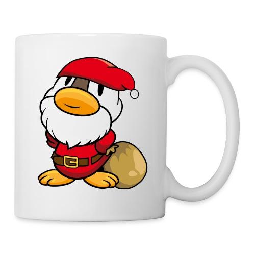 Lustige kleine Ente als Weihnachtsmann Tassen & Zubehör - Tasse