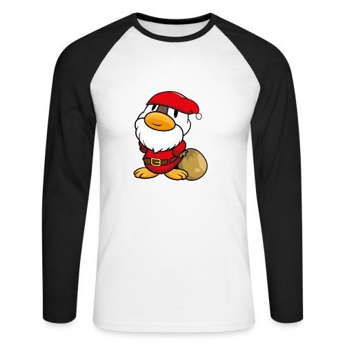 Lustige kleine Ente als Weihnachtsmann Tassen & Zubehör - Männer Baseballshirt langarm