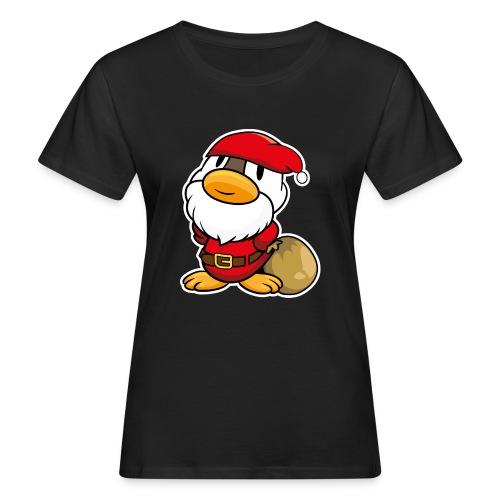 Lustige kleine Ente als Weihnachtsmann Tassen & Zubehör - Frauen Bio-T-Shirt