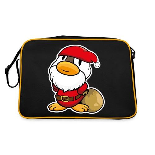 Lustige kleine Ente als Weihnachtsmann Tassen & Zubehör - Retro Tasche