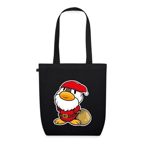 Lustige kleine Ente als Weihnachtsmann Tassen & Zubehör - Bio-Stoffbeutel