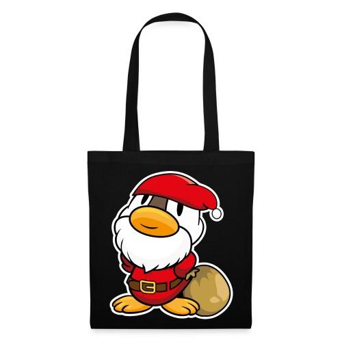 Lustige kleine Ente als Weihnachtsmann Tassen & Zubehör - Stoffbeutel