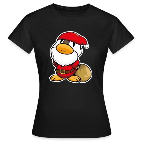 Lustige kleine Ente als Weihnachtsmann Tassen & Zubehör - Frauen T-Shirt