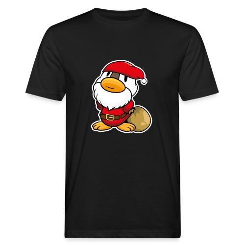 Lustige kleine Ente als Weihnachtsmann Tassen & Zubehör - Männer Bio-T-Shirt