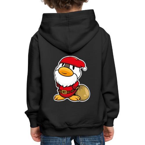 Lustige kleine Ente als Weihnachtsmann Tassen & Zubehör - Kinder Premium Hoodie