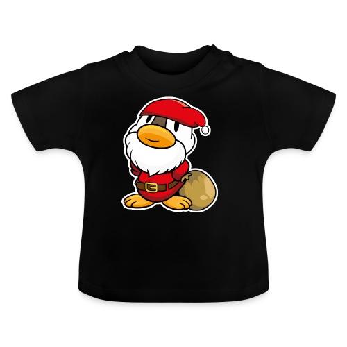 Lustige kleine Ente als Weihnachtsmann Tassen & Zubehör - Baby T-Shirt