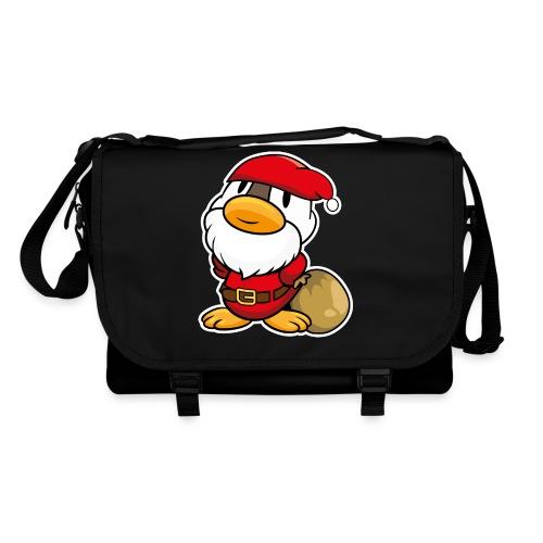 Lustige kleine Ente als Weihnachtsmann Tassen & Zubehör - Umhängetasche