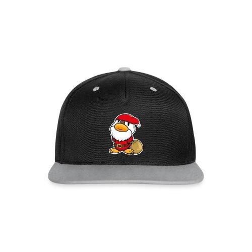 Lustige kleine Ente als Weihnachtsmann Tassen & Zubehör - Kontrast Snapback Cap