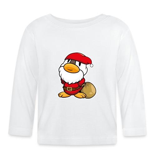 Lustige kleine Ente als Weihnachtsmann Tassen & Zubehör - Baby Langarmshirt