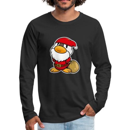 Lustige kleine Ente als Weihnachtsmann Tassen & Zubehör - Männer Premium Langarmshirt