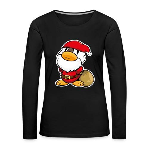 Lustige kleine Ente als Weihnachtsmann Tassen & Zubehör - Frauen Premium Langarmshirt