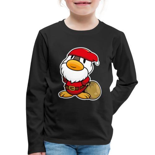Lustige kleine Ente als Weihnachtsmann Tassen & Zubehör - Kinder Premium Langarmshirt