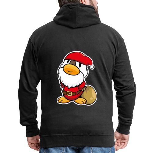 Lustige kleine Ente als Weihnachtsmann Tassen & Zubehör - Männer Premium Kapuzenjacke