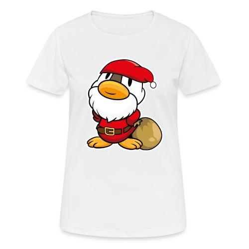 Lustige kleine Ente als Weihnachtsmann Tassen & Zubehör - Frauen T-Shirt atmungsaktiv