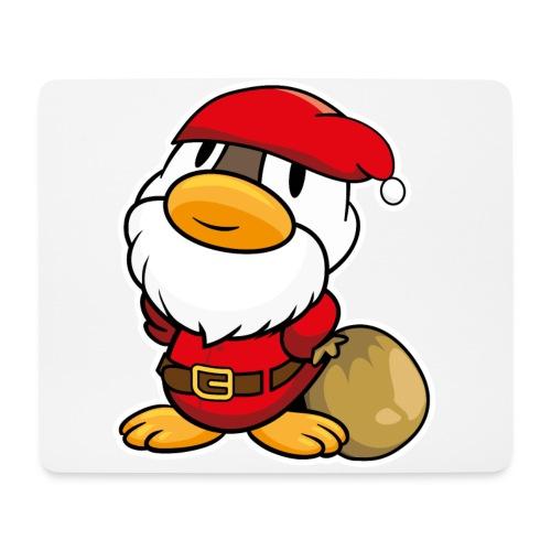 Lustige kleine Ente als Weihnachtsmann Tassen & Zubehör - Mousepad (Querformat)