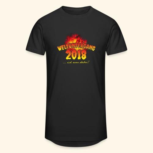 lustiges Sprüche-T-Shirt Weltuntergang 2018 - Geschenkidee! - Männer Urban Longshirt