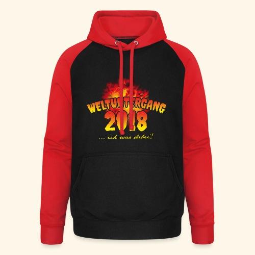 lustiges Sprüche-T-Shirt Weltuntergang 2018 - Geschenkidee! - Unisex Baseball Hoodie