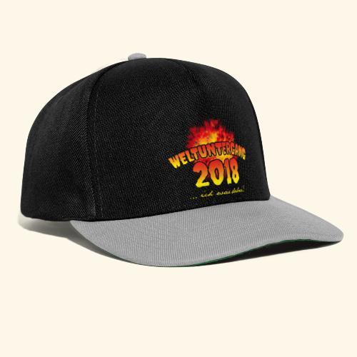 lustiges Sprüche-T-Shirt Weltuntergang 2018 - Geschenkidee! - Snapback Cap