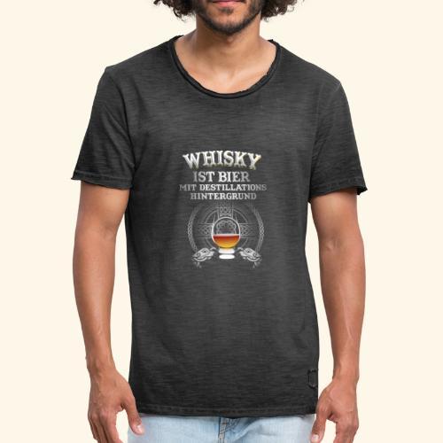 Whisky ist Bier T-Shirt Design - Männer Vintage T-Shirt