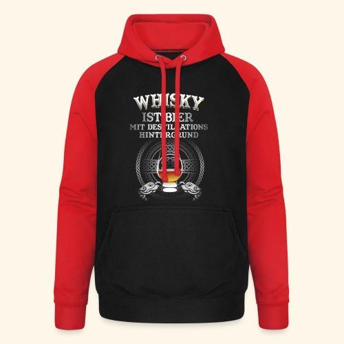 Whisky ist Bier T-Shirt Design - Unisex Baseball Hoodie