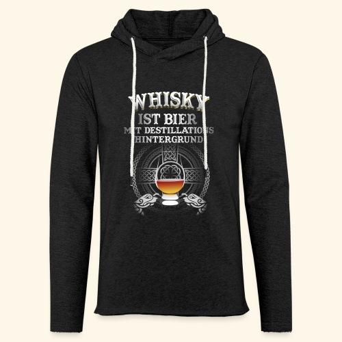 Whisky ist Bier T-Shirt Design - Leichtes Kapuzensweatshirt Unisex