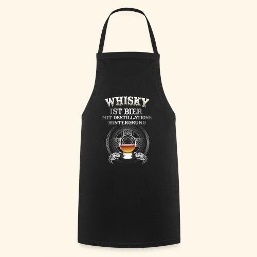 Whisky ist Bier T-Shirt Design - Kochschürze