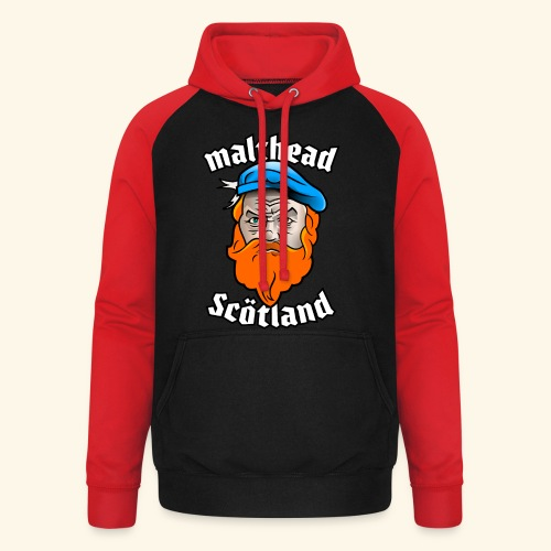 Whisky T-Shirt Malthead für Whisky-Fans - Unisex Baseball Hoodie