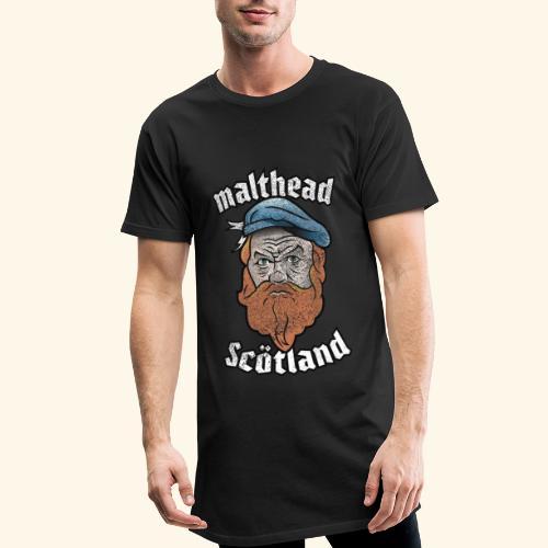 Whisky T-Shirt Malthead für Whisky-Fans - Männer Urban Longshirt