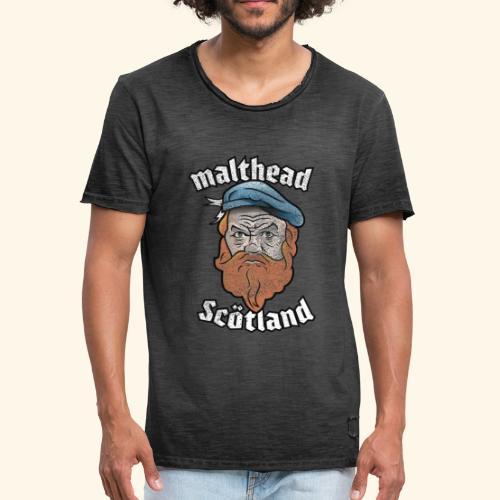 Whisky T-Shirt Malthead für Whisky-Fans - Männer Vintage T-Shirt