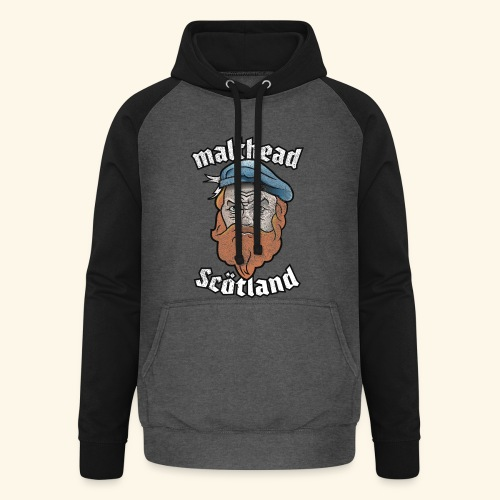 Whisky T-Shirt Malthead für Whisky-Fans - Unisex Baseball Hoodie