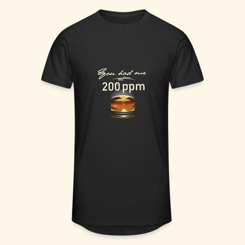 Whisky T-Shirt for Single Malt Fans - 200 ppm - Männer Urban Longshirt