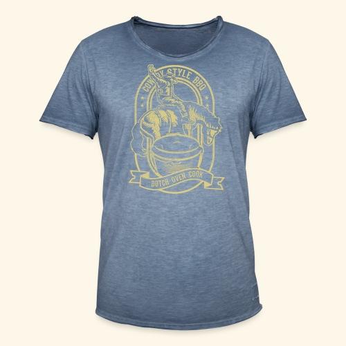 Cowboy Style BBQ Dutch Oven T-Shirt für Grillfans - Männer Vintage T-Shirt