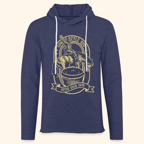 Cowboy Style BBQ Dutch Oven T-Shirt für Grillfans - Leichtes Kapuzensweatshirt Unisex