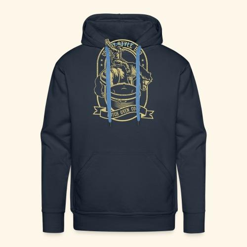 Cowboy Style BBQ Dutch Oven T-Shirt für Grillfans - Männer Premium Hoodie