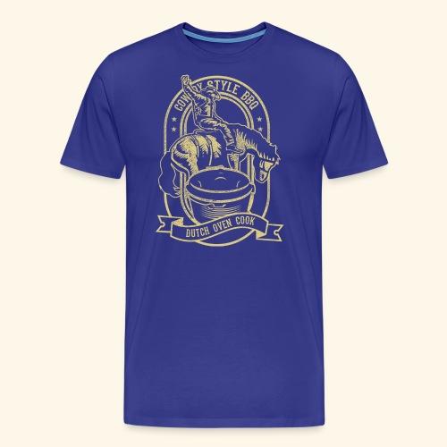 Cowboy Style BBQ Dutch Oven T-Shirt für Grillfans - Männer Premium T-Shirt