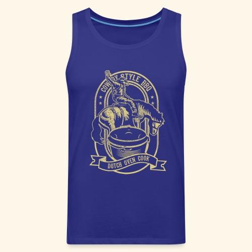 Cowboy Style BBQ Dutch Oven T-Shirt für Grillfans - Männer Premium Tank Top