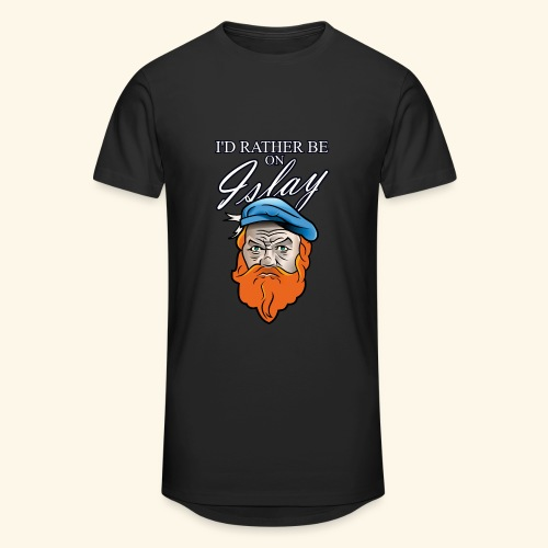 Whisky Fan T-Shirt I'd rather be on Islay - Männer Urban Longshirt