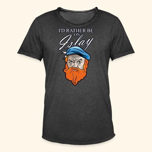 Whisky Fan T-Shirt I'd rather be on Islay - Männer Vintage T-Shirt